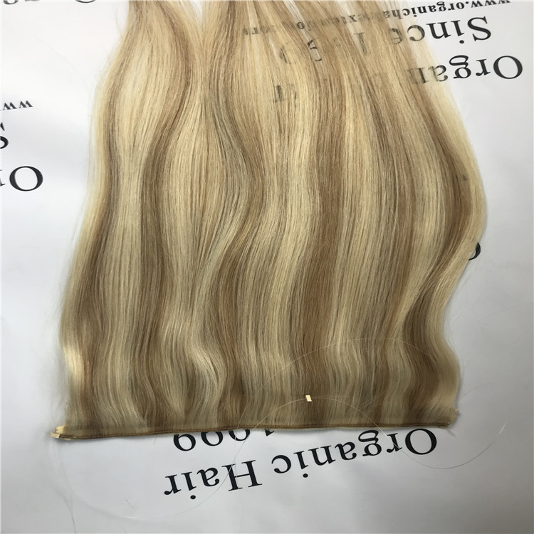 piano color flip hair extensions H64